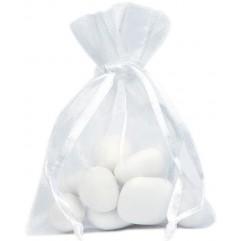 10 Sachets En Organdi Blanc