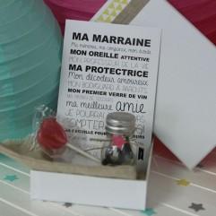 La boite bracelet Super Marraine (R)