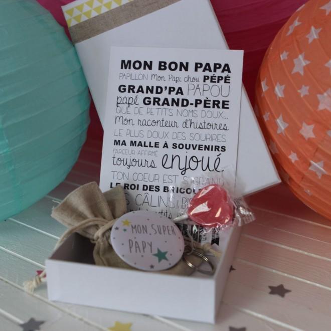 """La boite à bonheurs """"Mon Super Papy"""""""