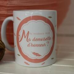 """Mug """"Tu voudrais être ma demoiselle d'honneur"""" personnalisable"""