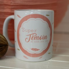 "Mug ""Super Témoin"" (F)"