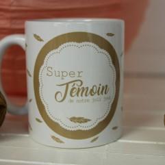 "Mug ""Super Témoin"" G"