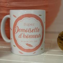 "Mug ""Super demoiselle d'honneur"""