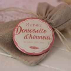 """Pochon """"Super demoiselle d'honneur ?"""""""