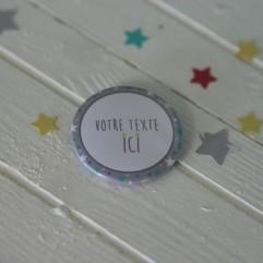 """Badge 37mm """"Etoiles garçon"""""""