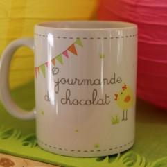 """Mug """"Gourmande de chocolat"""""""