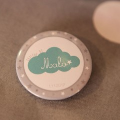 "Badge 37mm ""nuage"""
