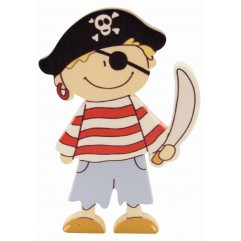 Pirate garçon en bois