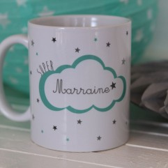 "Mug ""super marraine"" nuage"