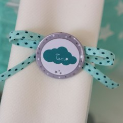 "Rond De Serviette badge ""nuage"""