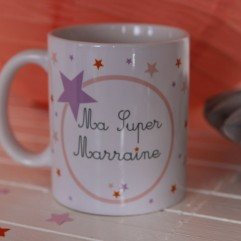 "Mug ""super marraine"" Fée"