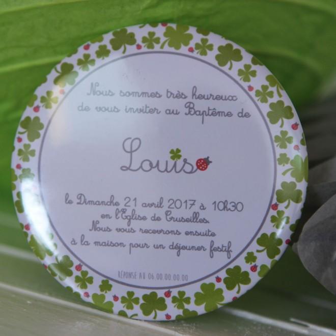 Invitation coccinelle magnet