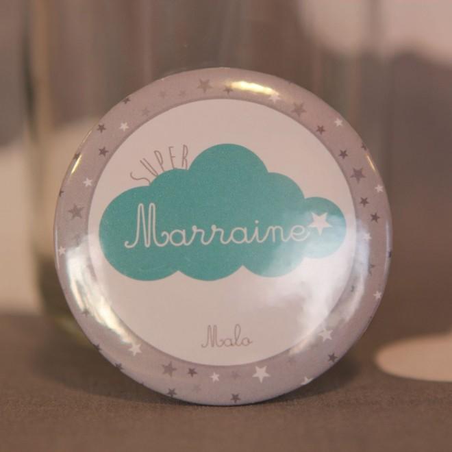 Super Marraine nuage personnalisable