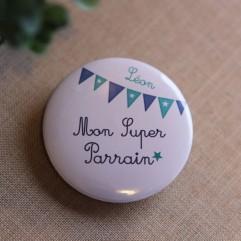 Super Parrain fanion personnalisable
