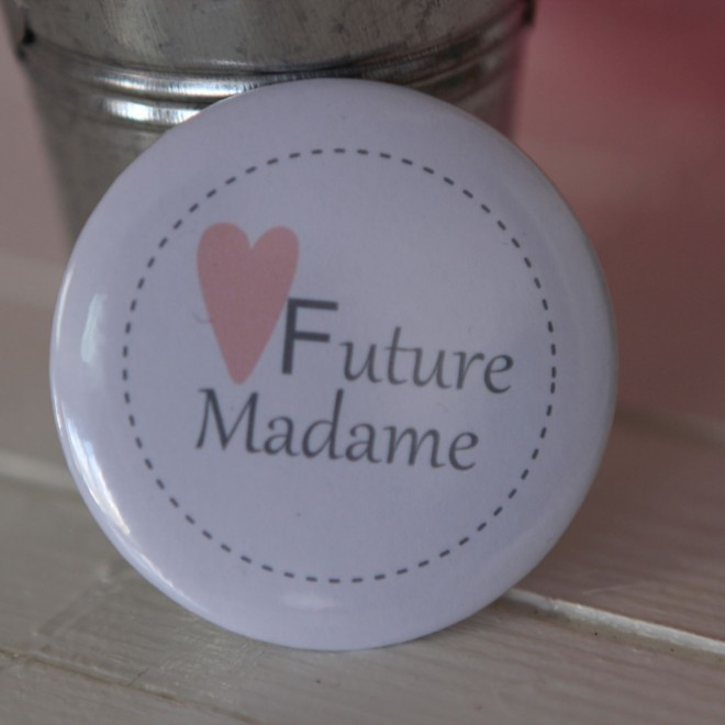 Badge EVJF Future madame coeur