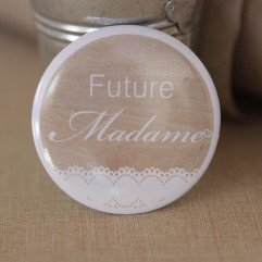 Badge EVJF Future madame bois