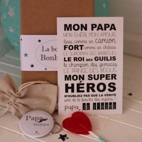 """La boite à bonheurs """"Papa magique"""""""