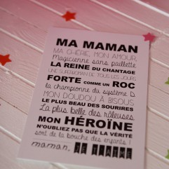 """Carte Postale """"ma maman"""""""