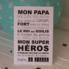 """Carte Postale """"mon papa"""""""