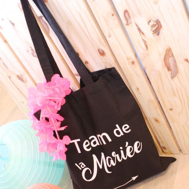 """Tote Bag """"Team de la mariée"""" coloris au choix"""