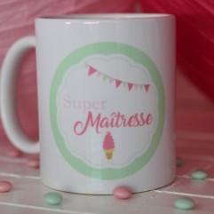 "Mug Super Maîtresse ""glace"""