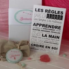 """La boite à bonheurs Super Maitresse """"glace"""""""