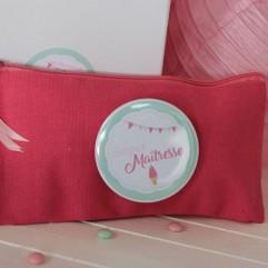 Pochette toile rose super maitresse (C) glace