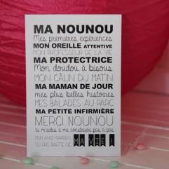 "Carte Postale ""ma nounou"""