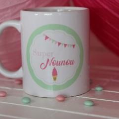 "Mug Super Nounou ""glace"""