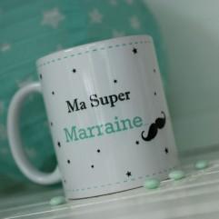 Mug Ma Super marraine moustache