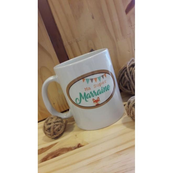 Mug personnalisable Super marraine Renard