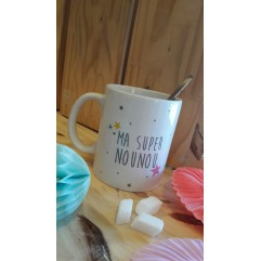 Mug Super Nounou étoiles