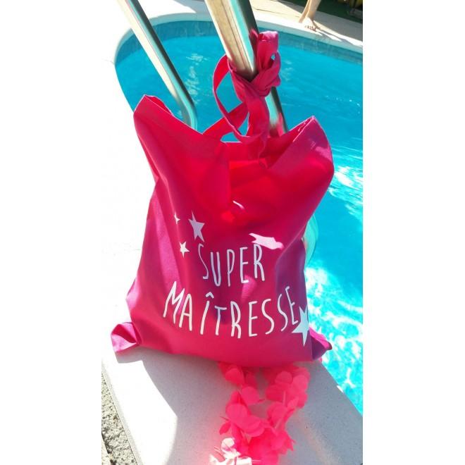 "Tote Bag ""Super Maitresse"" étoiles"