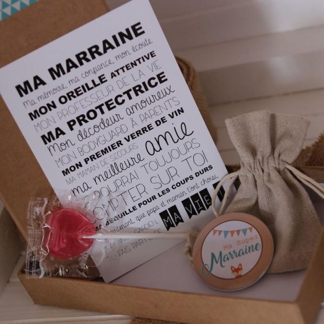 """La boite à bonheurs """"Super Marraine"""" Renard"""