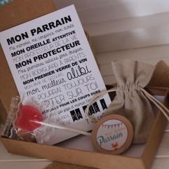 """La boite à bonheurs """"Super Parrain"""" Renard"""
