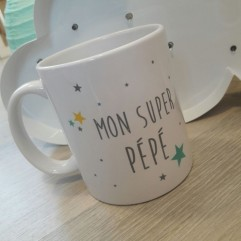 """Mug """"Mon Super Pépé"""" personnalisable"""