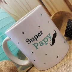 "Mug ""Super Papy"" moustache"