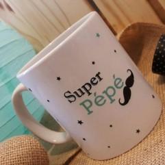 """Mug """"Super Pépé"""" moustache"""