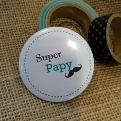 """Pochon """" Super Papy"""" moustache"""