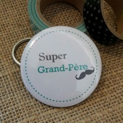 "Pochon "" Super Grand-Père"" moustache"