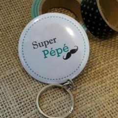 """Pochon """" Super Pépé"""" moustache"""