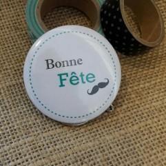 """Pochon """" Bonne Fête"""" moustache"""