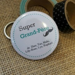 "Pochon "" Super Grand-Père"" moustache personnalisable"