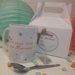 """Petite Box """"Tu veux être ma Marraine"""" Flocon"""