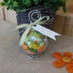 Boule hiboux vert