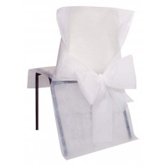 10 Housses de chaises blanches