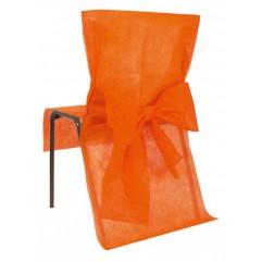 10 Housses de chaises orange