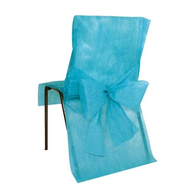 10 Housses de chaises turquoise