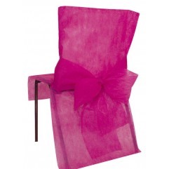 10 Housses de chaises fuchsia