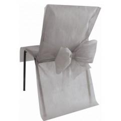 10 Housses de chaises grises